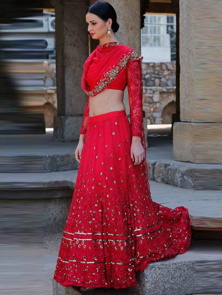 Red Lehenga by Astha Narang #india #fashion #red #lehenga #indianwedding #indianfashion