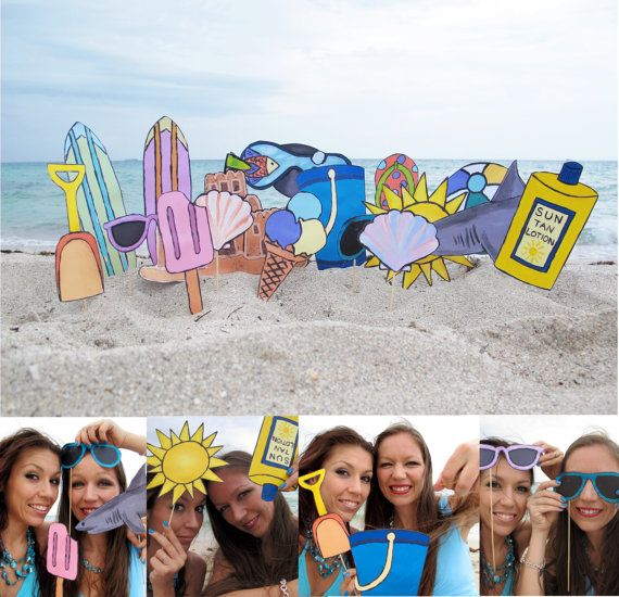 beach photo booth props  perfect for a summer by thepartyevent, $13.99