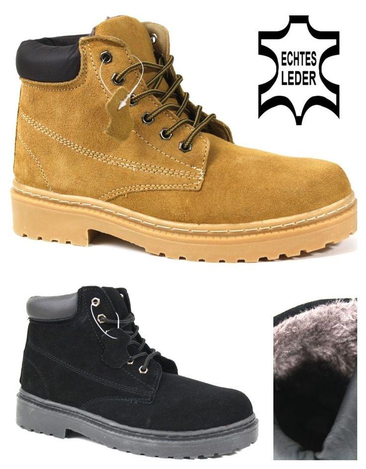 Trendy Stiefel für Damen und Herren aus echten Wild-Leder - Neu und nur bei Ikegimo   Winterstiefel - Boots - Schuhe - Stiefel Gr. 36-45