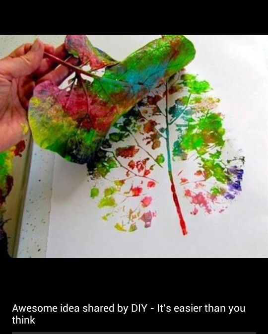 Diy painting..cant wait to try this with leaves from camping trip..could even frame them for wall decor :)