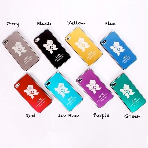 London 2012 Olympics iPhone 4 Cover with Metal Surface
