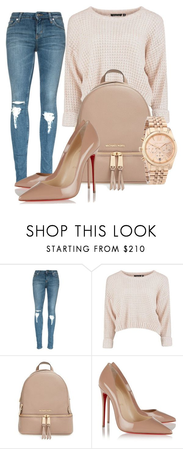 """""""#ootd"""" by izzymynizzle ❤ liked on Polyvore featuring MICHAEL Michael Kors, Christian Louboutin and Michael Kors"""