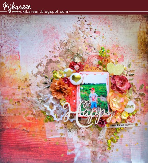 """Entry to August / September 2016 challenge """"Metalic colors or texture"""" by Kareen"""