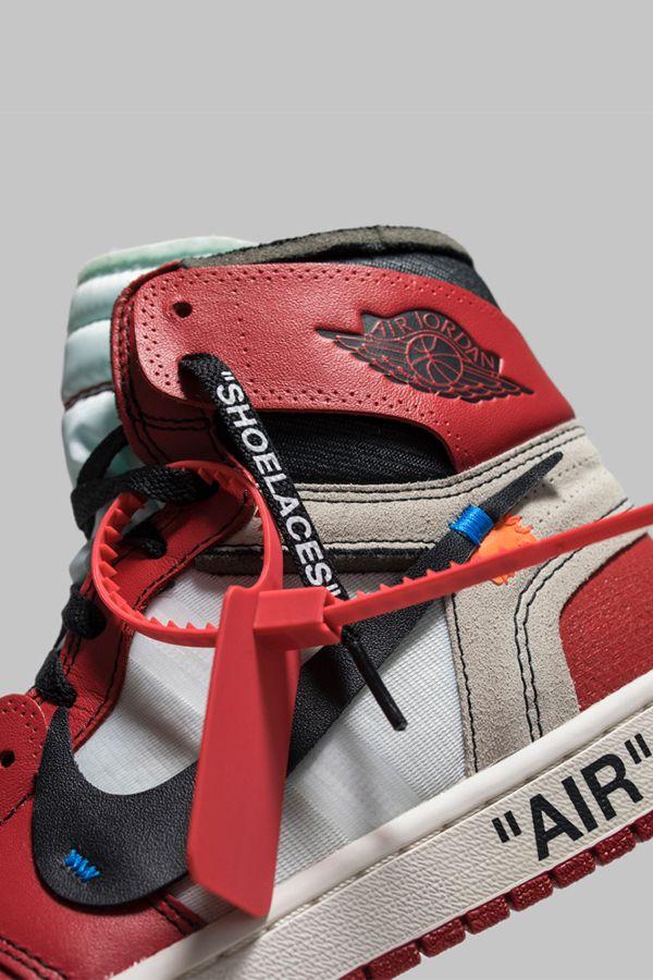 Off White X Air Jordan 1 Retro High Og Chicago Black Nike