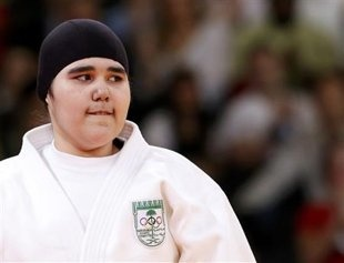 Saudi judoka Wojdan Shaherkani. Praised for being one of the first women to compete from her country, she is targeted in a hate-filled Twitter campaign at home. (Photo: Reuters)