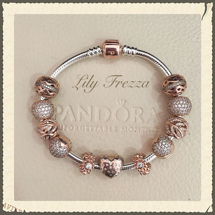in love with the pandora rose gold bracelets - Pandora Bracelet Design Ideas