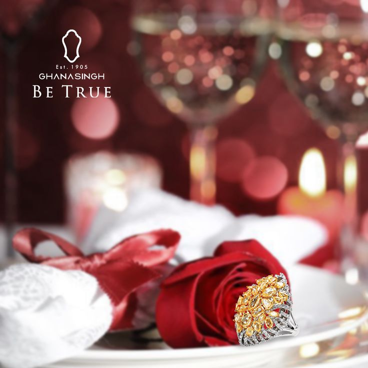 How about preparing dinner for two & slipping this little sparkle in her champagne glass? #BeTrueToYourValentine