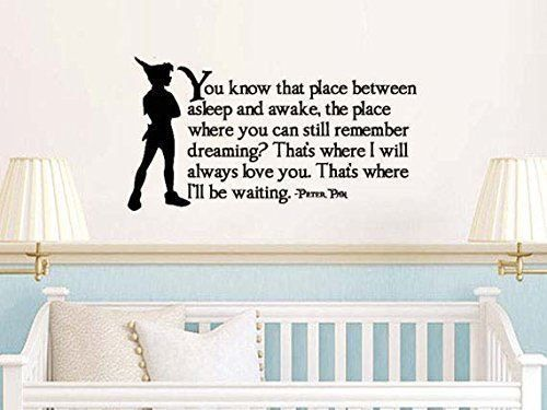 Peter Pan Inspired That Place Between Asleep and Awake Vinyl Wall Decal Sticker #beautiful #budget #custom #cute #decal #decals #decor #decorating #design #family #fun #gifts #graphics #happy #home #homedecor #interiordecorating #interiordesign #lettering #letters #love #luckygirldecals #oracal631 #personalized #pretty #quote #quotes #remarkablewalls #sticker #stickers #style #vinyl #vinyldecal #vinylfilm #vinylwalldecal #wall #wallart #walldecal #walldecor #wallquote #wallquotes…