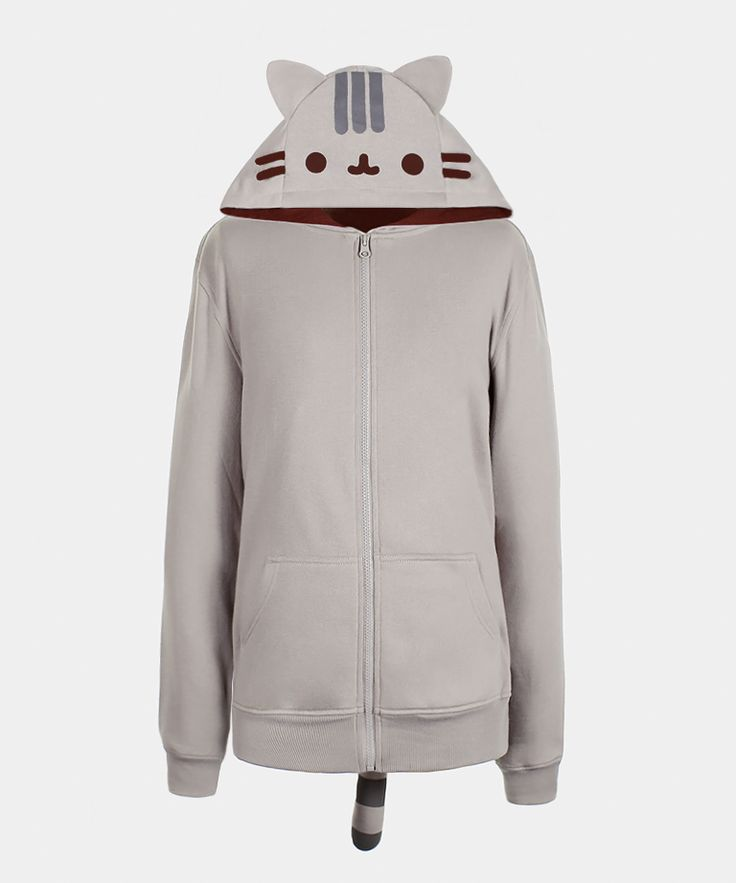 Pusheen The Cat Unisex Costume Hoodie, Size XX-Large, $50 via HeyChickadee.Com --- I love how much Pusheen looks like my little grey cat, Miss Rita Hayworth! This is perhaps my favorite bit of Pusheen-related clothing. (PRICE NOTE: Remember to compare prices on all Pusheen merchandise between HeyChickadee.Com and Amazon.Com before buying to find the lowest one!)