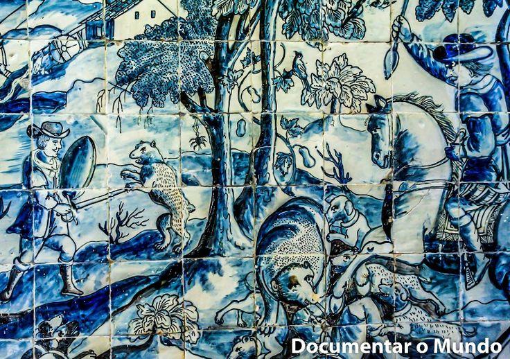 Sala de ca a do pal cio dos condes da calheta azulejos for Azulejos conde