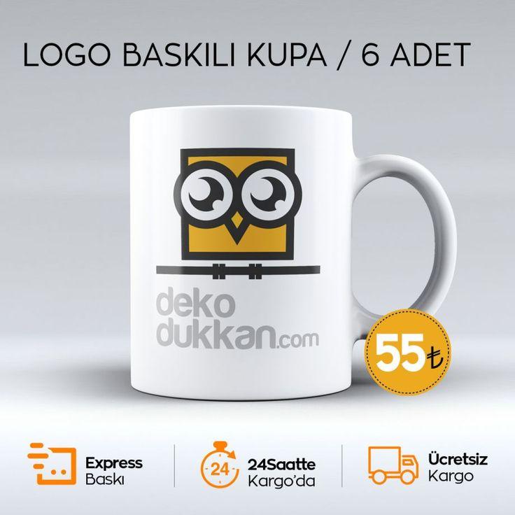 Logo Baskılı Kupa 6 Adet