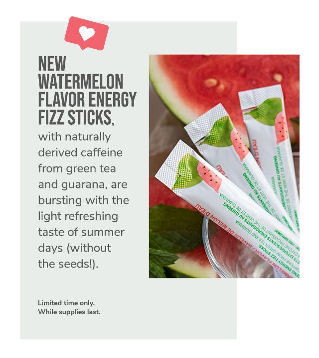 New Watermelon Energy Fizz Sticks In 2020 Fizz Sticks Fizz Arbonne Nutrition