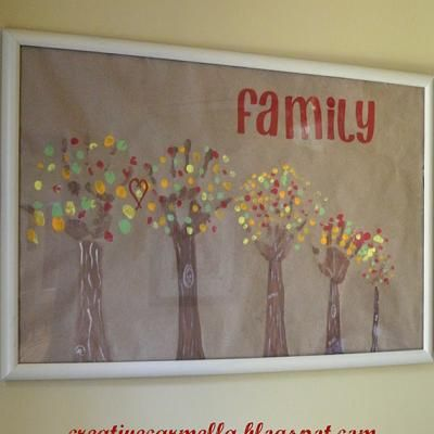 DIY Fall Family Tree Artwork {Thanksgiving Crafts for Children} - I think I have found our next project!!!!