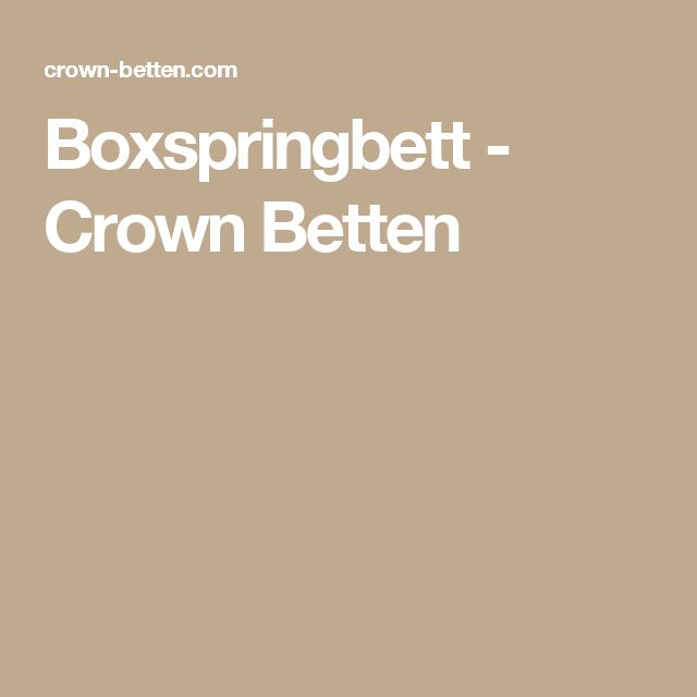 Boxspringbett - Crown Betten