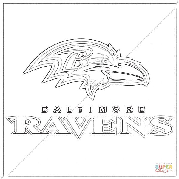 Baltimore Ravens Super Coloring Ravens Baltimore