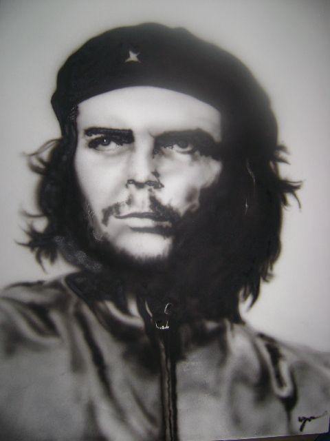Aerografía de Che Guevara