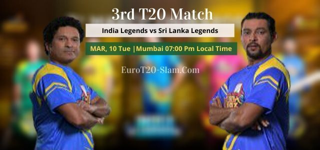 Here Is India Legends Vs Sri Lanka Legends Legends 3rd T20 Today Match Prediction Road Safety World Series T20 2020 We Give 1 Who Will Win Team Player Legend
