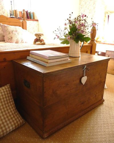 Pine blanket box  beautiful chest. Going to need something like this since there is absolutely nowhere to store linen in the new house!