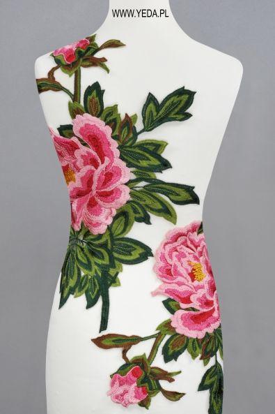 Aplikacja ML95197 ROSE GREEN Haft do przyszycia między innymi na suknie, koszule, spódnice, płaszcze.