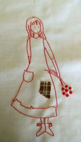 For my granddaughter to embroider. FP