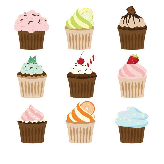Premium Cupcakes Clipart Cupcake Clipart Cupcakes by AmandaIlkov, $3.99  https://www.etsy.com/listing/190933446/premium-cupcakes-clipart-cupcake-clipart?ref=sr_gallery_27&ga_order=date_desc&ga_view_type=gallery&ga_ref=fp_recent_more&ga_page=26&ga_search_type=all