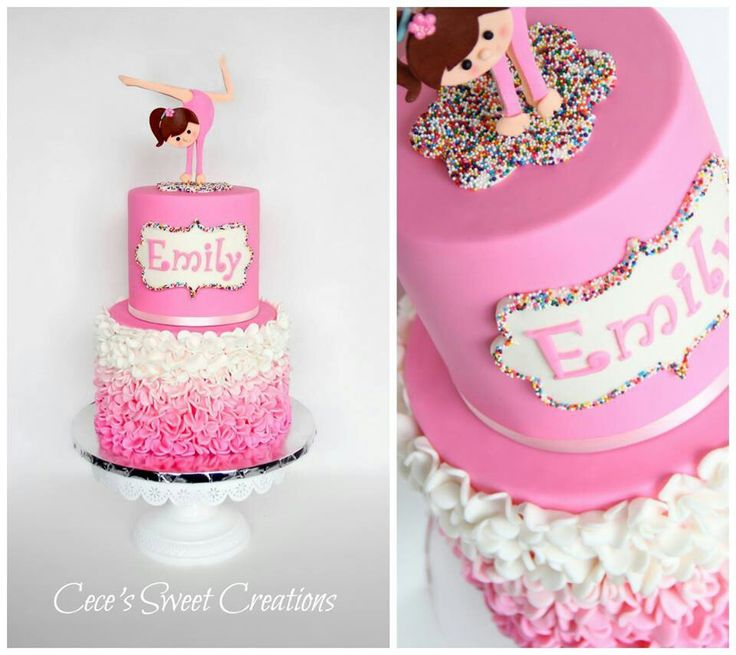 gymnast cake, adorable!