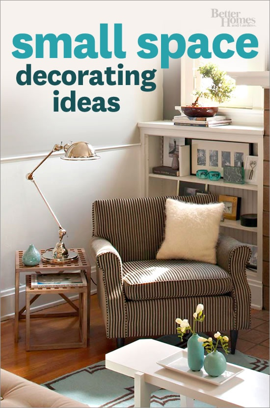 Make a small space beautiful with our tips and tricks: http://www.bhg.com/decorating/small-spaces/small-space-decorating-ideas?socsrc=bhgpin032513CollectionSmallSpaceIdeas