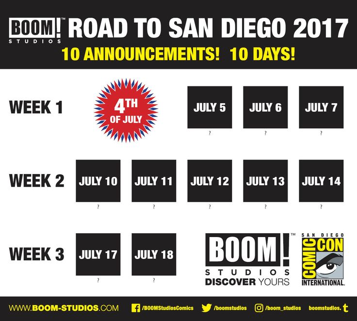 BOOM! Studios To Spoil Own San Diego Comic-Con Announcements Over Next Ten Days
