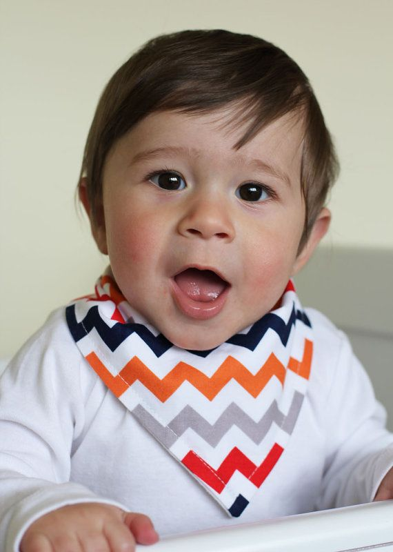 Baby Bandana Bib Chevron Boy  Bandana bibs for Boys by raenne, $6.00
