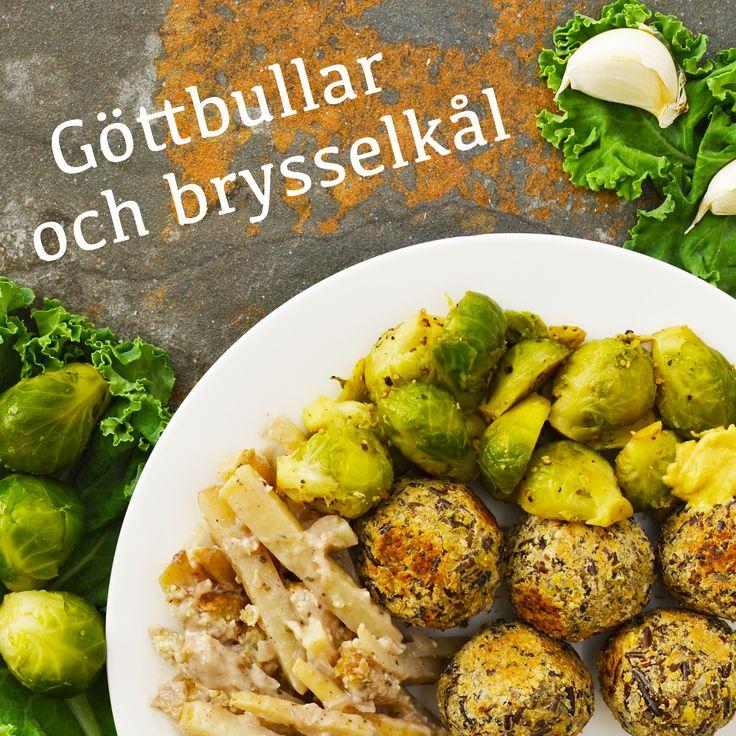 Göttbullar, brysselkål, stuvad grönkål och rödbetssallad är några av rätterna i vår julmeny! Recepten finns i meny 21. 😊❤️🎄  www.allaater.se