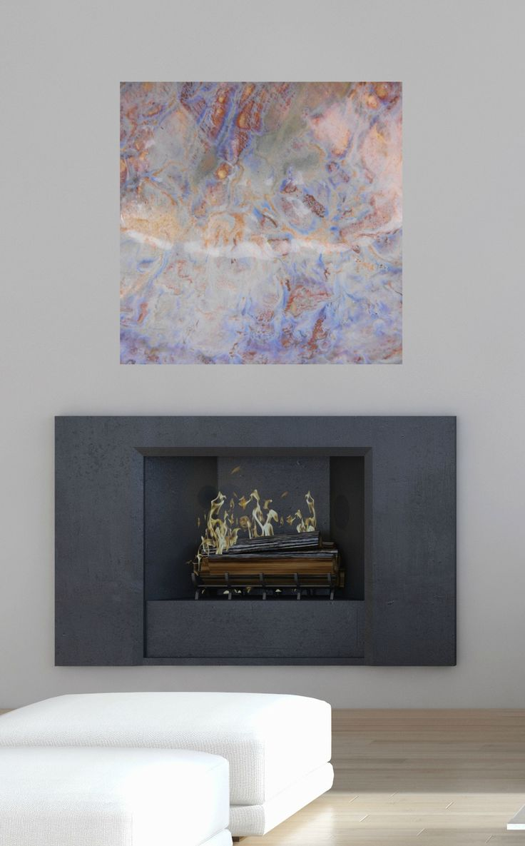 Abstract Canvas Artwork   Square #9. Contemporary FireplacesContemporary  Wall ... Nice Design