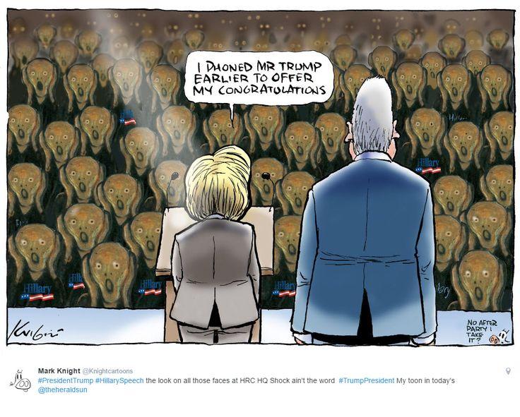 Mark Knight Herald Sun US Election #Trump #Clinton