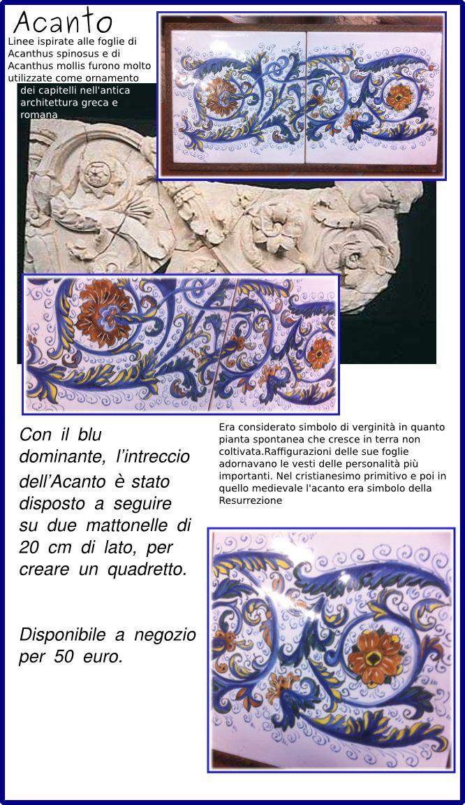Acanto: quadretto di mattonelle | Ceramiche Rinascita