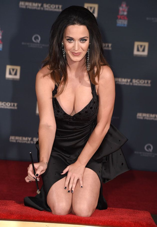 Katy Perry Leans In And Busts Out At Hollywood Handprint Ceremony