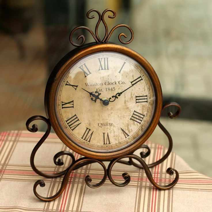 Vintage Table Clock   Free Worldwide Shipping!  Only $43.68    Order from: www.happycozyhome.com