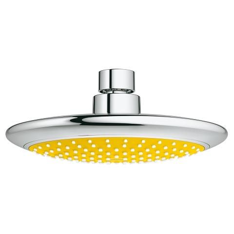 Grohe Rainshower Solo Shower Head 1 Spray Chrome Yellow