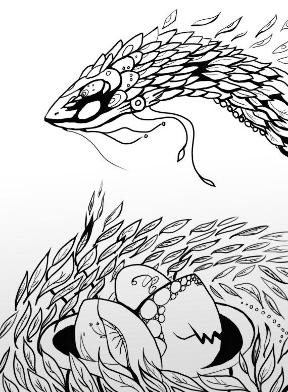 Season of the Serpent by TigirisIllustrations on Etsy