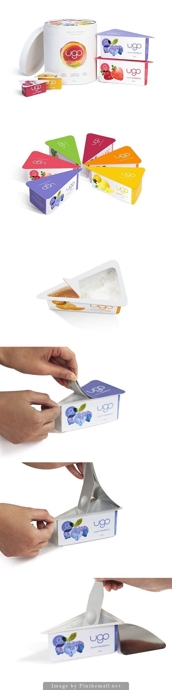 """ugo"" yogurt packaging design #packaging #design"