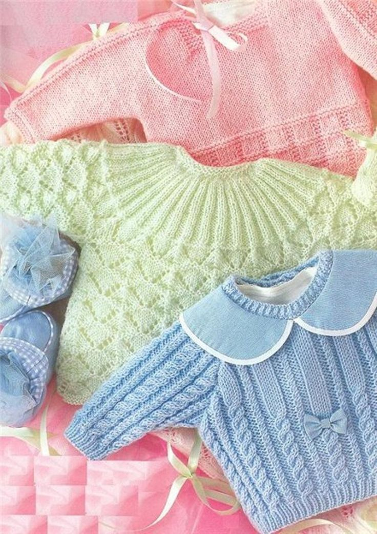Pretty baby sweaters, magazine issue here but not complete - Instructions for these sweaters are missing