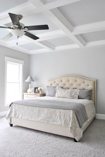 Love the ceiling and the gray/white color scheme.