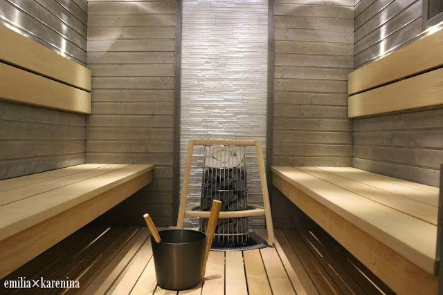 Sauna │ From Valontalo Blog emiliakarenina.blogspot.fi/2014/01/harmaa-hurmaa.html