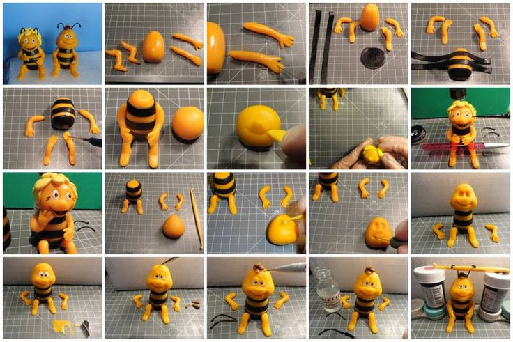 How-to Fondant Bee http://www.domacidorty.cz/articles/vcelka-maja-a-vilik
