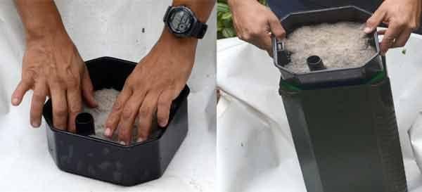 como armar un filtro para estanque
