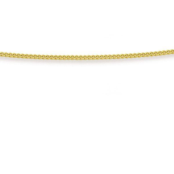 Solid 9ct Gold 50cm Diamond Cut Curb Chain