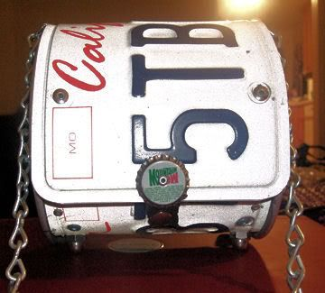 license plate purse diy,