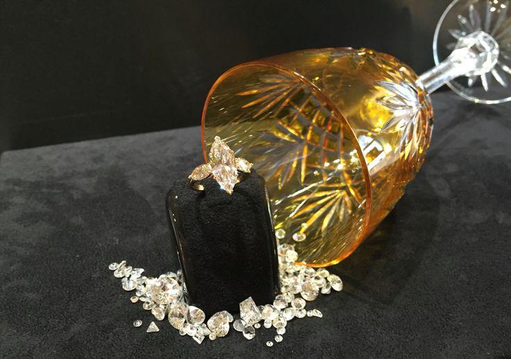 Creazione gioielleria Casavola Noci Diamante Navette