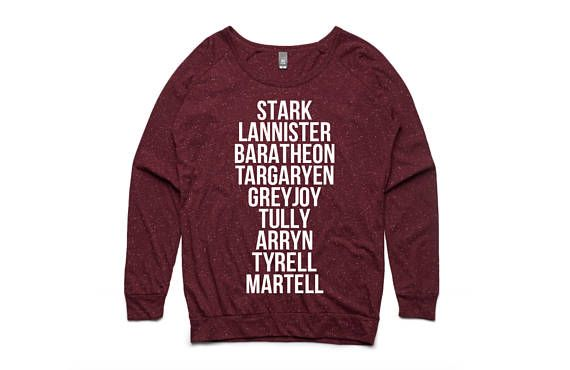 NEW VERSION -more colors coming too! Game of Thrones Houses Women's Pullover by So Effing Cute #got #got7 #game of thrones #khaleesi #shirt #nerd #books #party #lannister #stark #jon snow