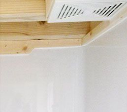 Bathroom fan for moisture control
