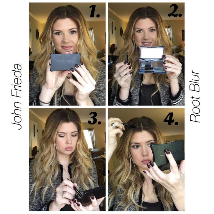 Preen.Me VIP Makensie H discovers a way to hide unsightly regrowth using her gifted John Frieda Root Blur in Chestnut to Espresso Brunettes (available exclusively at ULTA.com). Check out this #jfrethinkcolour pictorial for a quick and easy touch-up session.