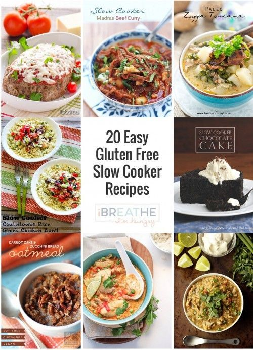 20 Easy Gluten Free Crockpot or Slow Cooker Recipes from around the web!